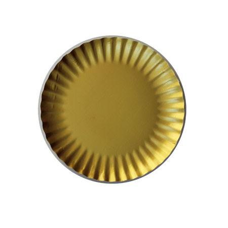 צלוחית נייר קטנה בצבע זהב