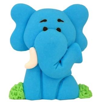 קישוט בצק סוכר - פיל כחול