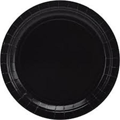 צלחות נייר גדולות שחור