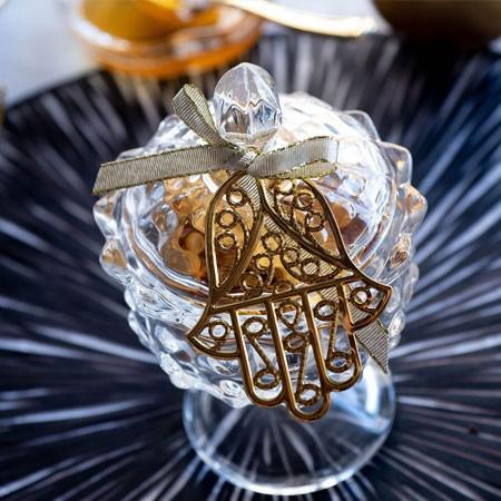 צנצנת וינטג' מזכוכית במילוי שוקולד