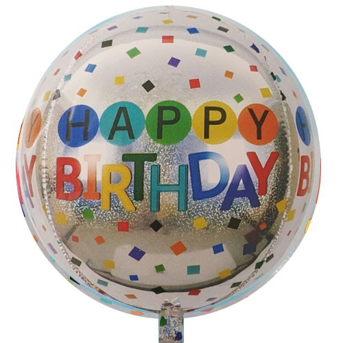 בלון כסוף Happy Birthday