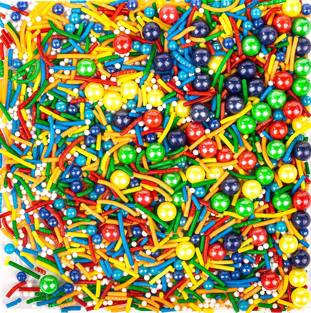 סוכריות לעוגה מיקס צבעוני- 120 גרם