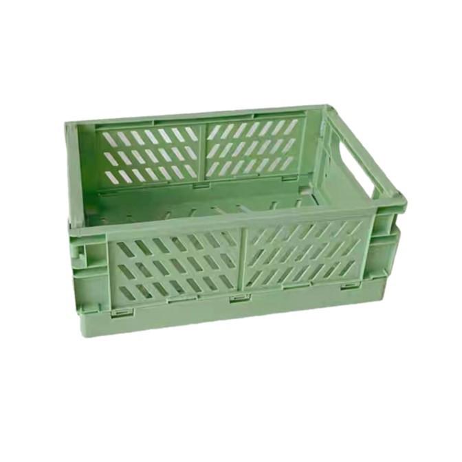 ארגז פלסטיק מתקפל- ירוק