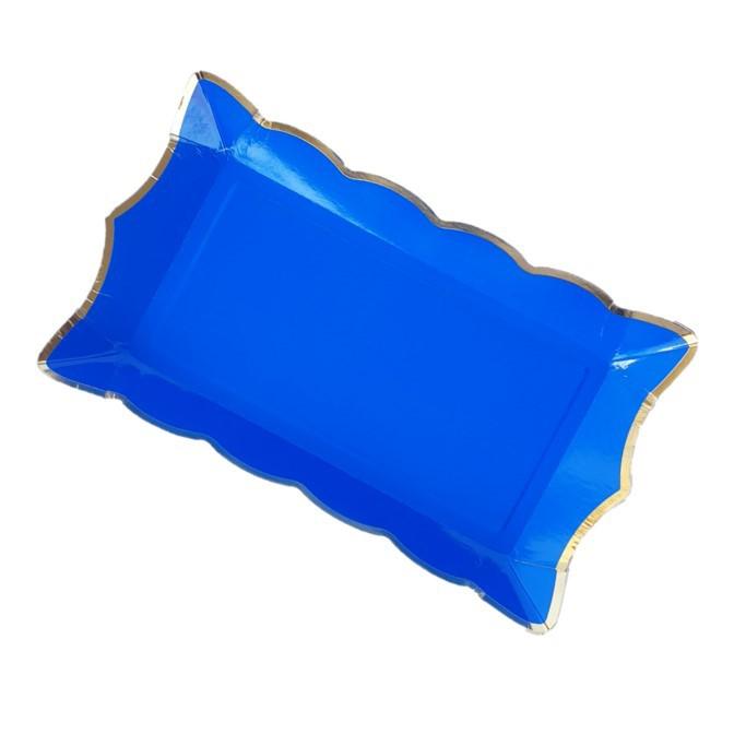רביעיית מגשי נייר- כחול