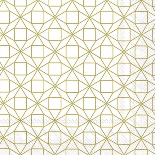 מפיות צורות גיאומטריות- לבן