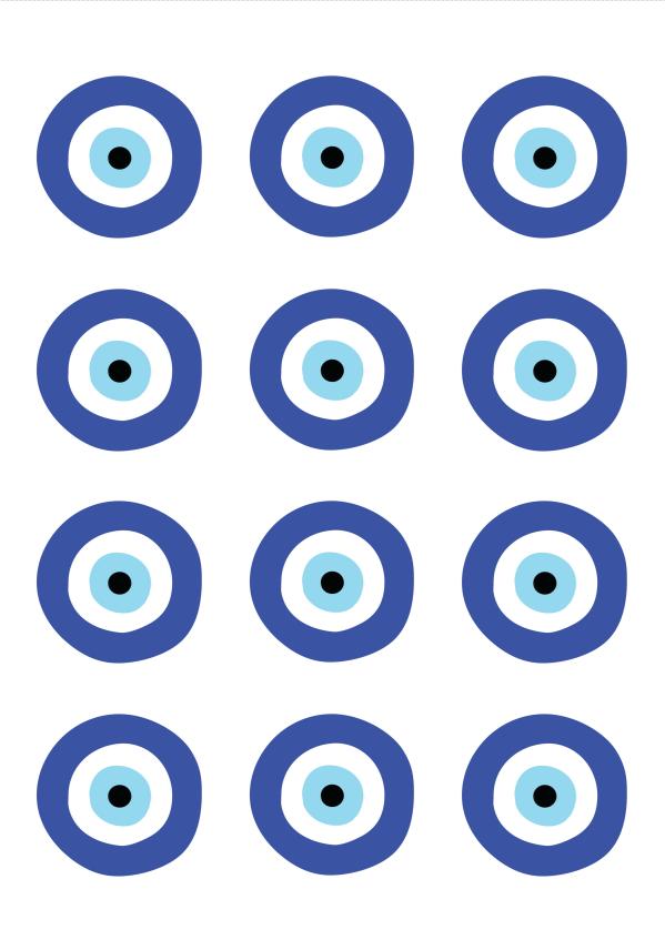 דף מדבקות מיתוג עין