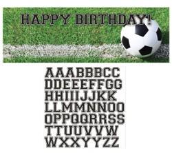 כרזת כדורגל Happy Birthday