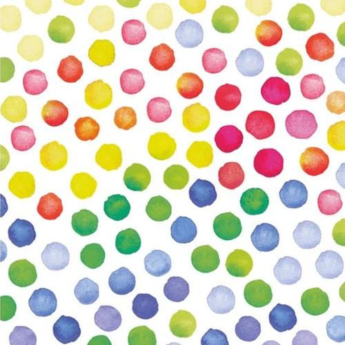 מפיות נקודות צבעוניות