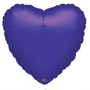 בלון הליום לב סגול