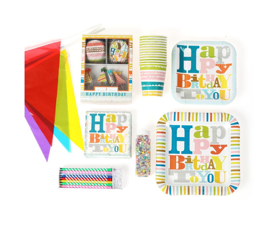 ערכת יום הולדת צבעוני