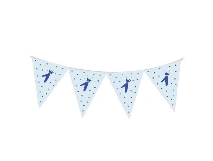שרשרת דגלוני נייר תכלת ליום הולדת שנה