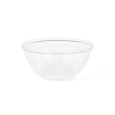 קערת פלסטיק עגולה שקופה בינונית