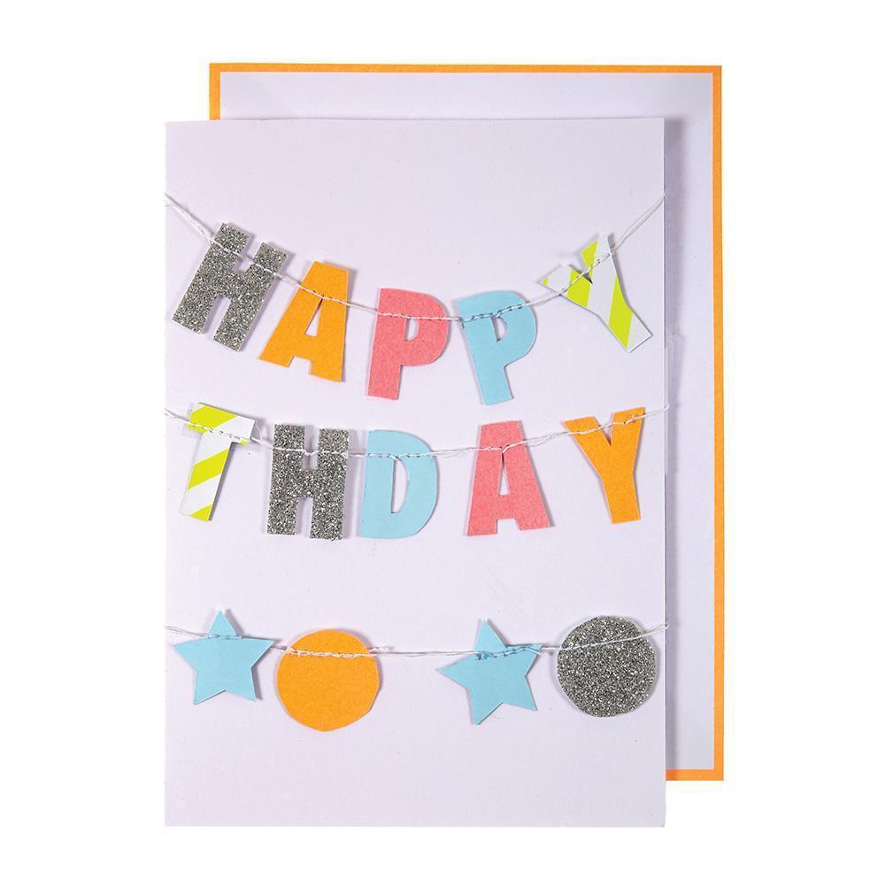 כרטיס ברכה יום הולדת - Meri Meri שרשרת עם ברכה