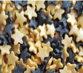 סוכריות לעוגה כוכבים זהב ושחור