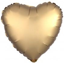בלון אלומיניום לב זהב