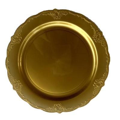 צלחות זהב חד פעמי יוקרתי