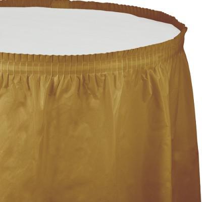 חצאית לשולחן זהב