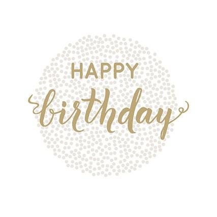מפיות happy birthday זהב
