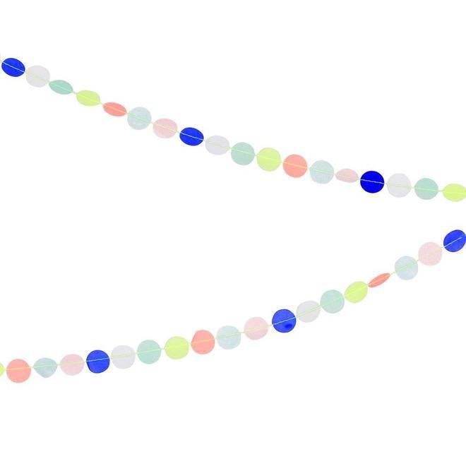 גרילנדת עיגולים צבעוניים - Meri Meri