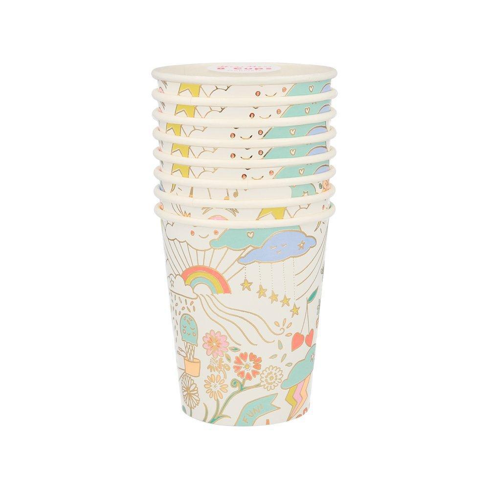 כוסות נייר מקושקשות - Meri Meri