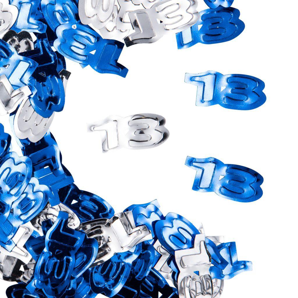 קונפטי 13 כסף כחול