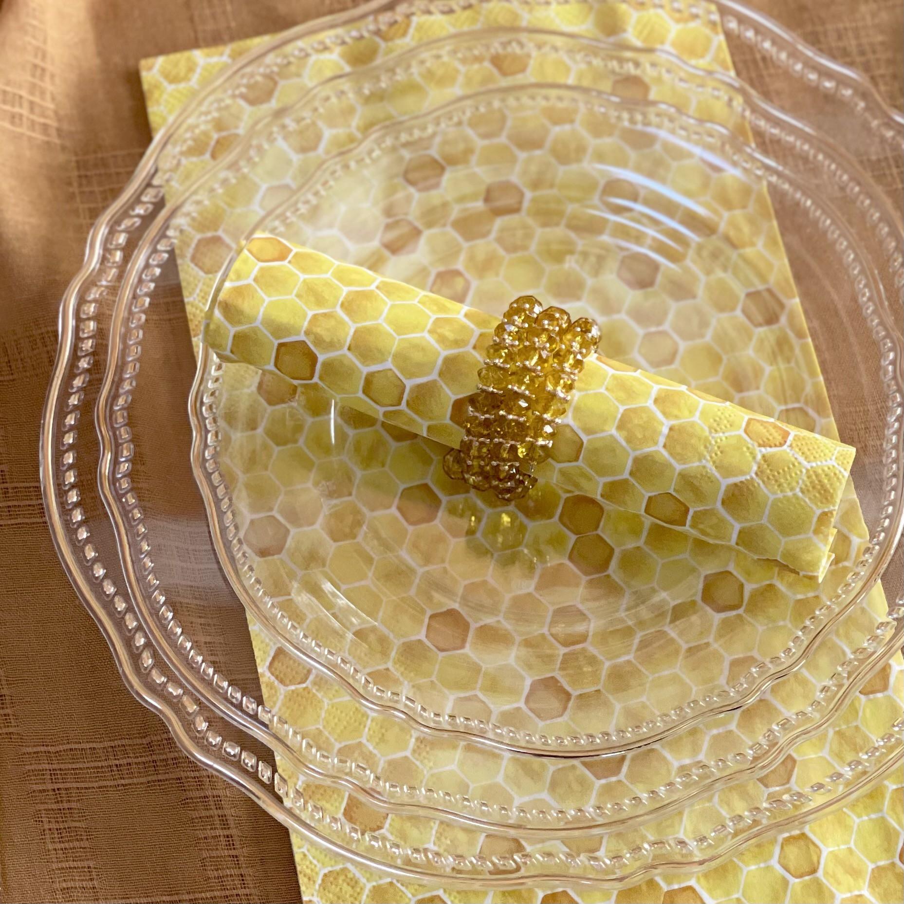 שישה חבקי קפיץ- צבע דבש