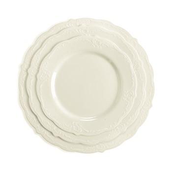 חבילת צלחות וינטג' קרם קטנות
