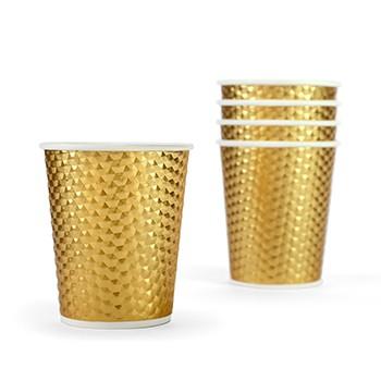 כוסות נייר זהב מטאלי