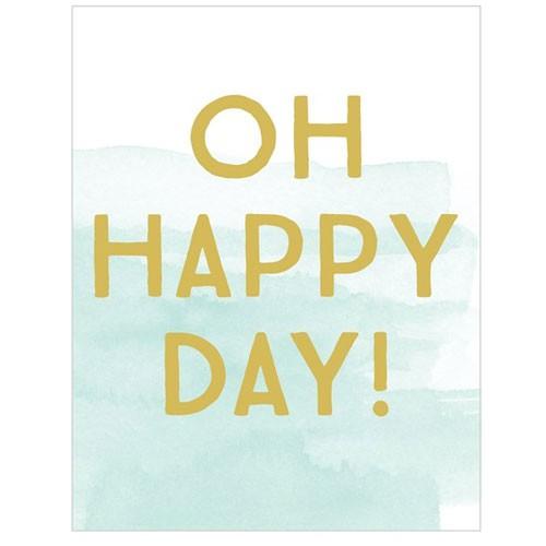 כרטיס ברכה יום הולדת - oh happy day
