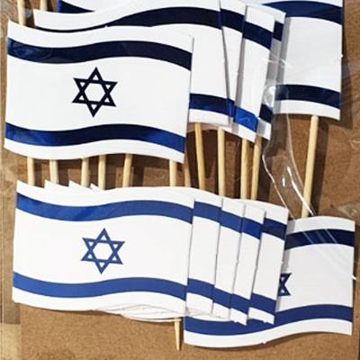 דגל ישראל על קיסם