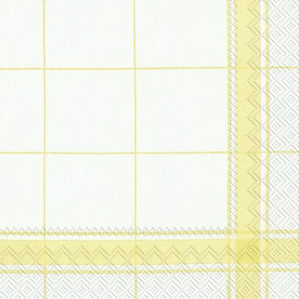 מפיות משבצות פס צהוב