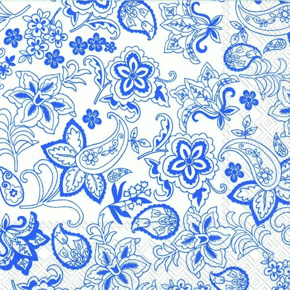 מפיות פרחוניות כחול לבן