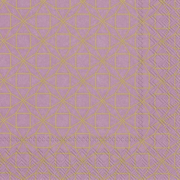 מפיות צורות גיאומטריות- ורוד עתיק