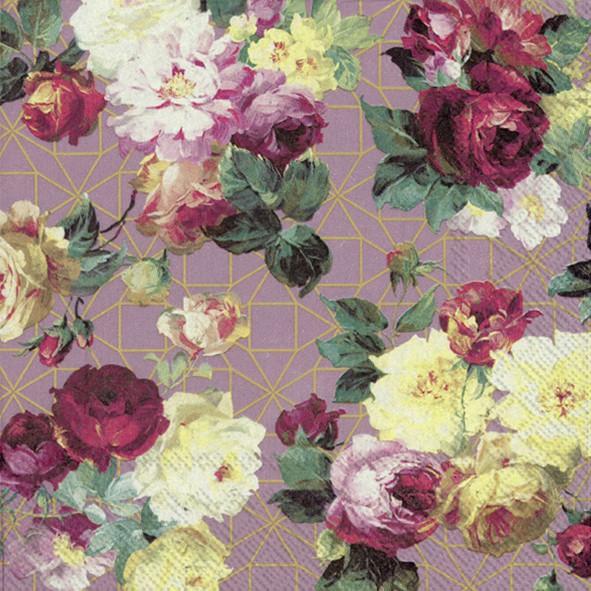 מפיות פרחים רקע ורוד עתיק