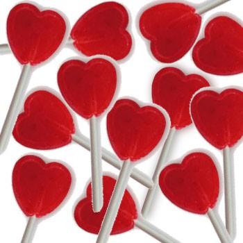 סוכריות על מקל לב
