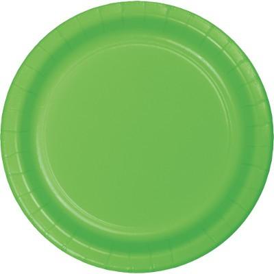 צלחות נייר קטנות ירוק בהיר