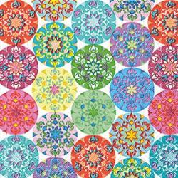 מפיות עיגולי פרחים