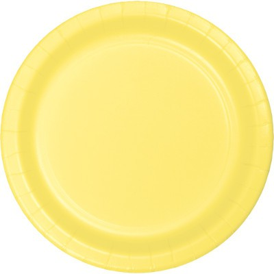 צלחות נייר גדולות צהוב מימוזה