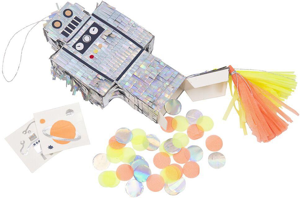 פיניאטה, הפעלות לילדים, פעילות לילדים, הפעלות ליום הולדת, פעילות ליום הולדת, אטקרציה ליום הולדת, פינייטה, פיניאטה רובוט גדולה להרכבה עצמית - Meri Meri, Meri Meri, מיני פיניאטה רובוט - Meri Meri