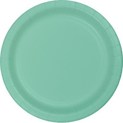 צלחות נייר גדולות מנטה, צלחות נייר, צלחות גדולות, מנטה, צלחות מנטה, יום הולדת, עיצוב שולחן, סידור שולחן