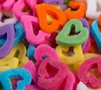 סוכריות לעוגה מיקס לבבות חלולים