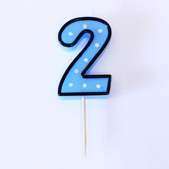 נר הספרה שתיים - כחול