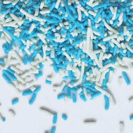 סוכריות לעוגה אטריות תכלת לבן