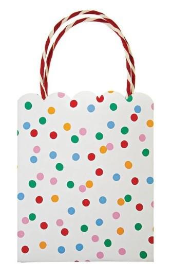 שקיות הפתעה נקודות צבעוניות מנייר - Meri Meri, Meri Meri, שקיות יום הולדת, שקית הפתעה, שקיות, שקית, שקית נייר, שקיות נייר, שקיות צבעוניות
