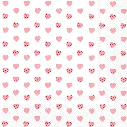 מפיות לבבות ורודים