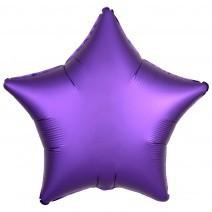בלון אלומיניום כוכב סגול