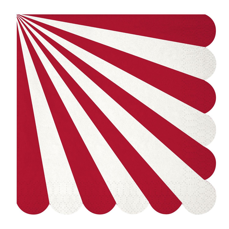 מפיות גדולות אדום לבן - Meri Meri ,Meri Meri, צלחות, אדום כסף לבן, אדום לבן, סידור שולחן, עיצוב שולחן, מפיות, מפית, מפית אדום לבן, מפיות אדום לבן