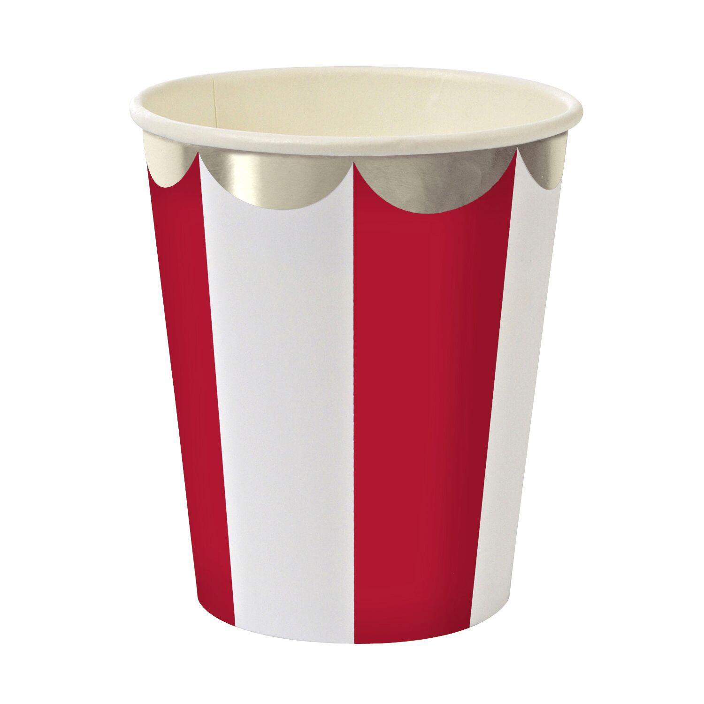 כוסות גדולות אדום לבן עם עיטור כסף - Meri Meri  ,Meri Meri, כוסות, אדום כסף לבן, אדום לבן, סידור שולחן, עיצוב שולחן, כוסות, כוס, כוס אדום לבן, כוסות אדום לבן