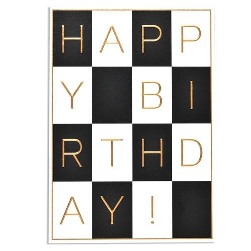 כרטיס ברכה יום הולדת - בלון ורוד