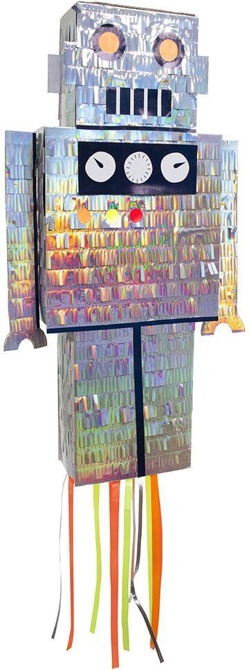 פיניאטה, הפעלות לילדים, פעילות לילדים, הפעלות ליום הולדת, פעילות ליום הולדת, אטקרציה ליום הולדת, פינייטה, פיניאטה רובוט גדולה להרכבה עצמית - Meri Meri, Meri Meri
